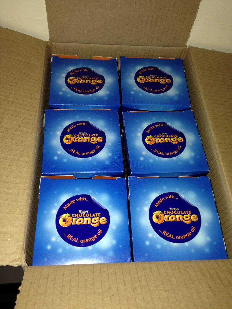 A parcel containing 6 Chocolate Oranges